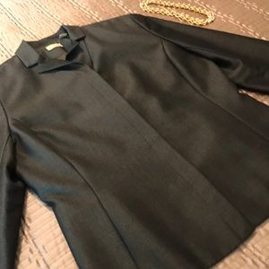 Caslon jacket, dark brown sheen, size 8
